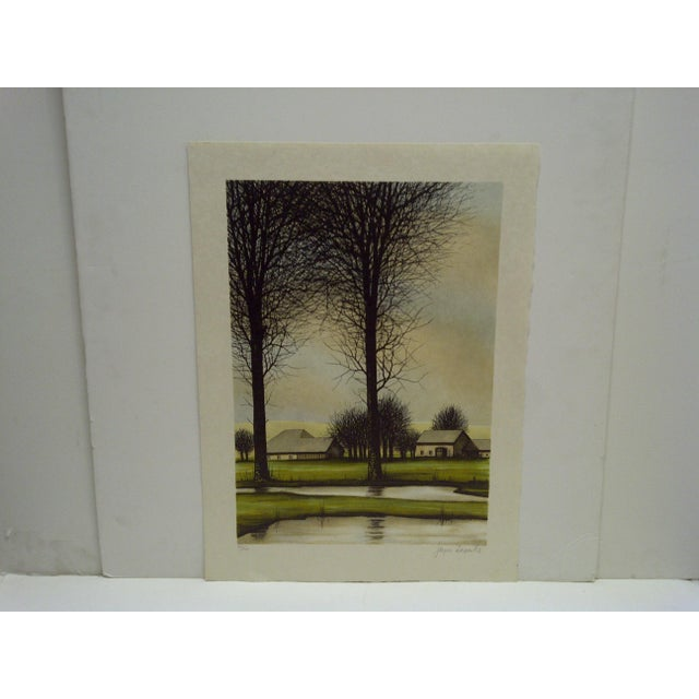 """This is a Limited Edition Numbered (40/100) And Signed Print Titled """"Two Trees"""" By Deperthes"""