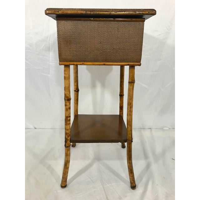 English English 19th Century Bamboo Sewing Table For Sale - Image 3 of 9