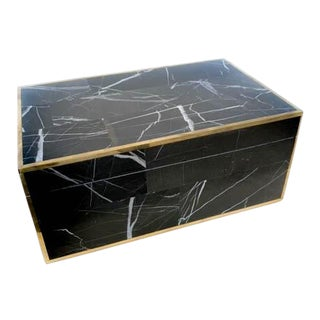 Made Goods Black Marble Box For Sale