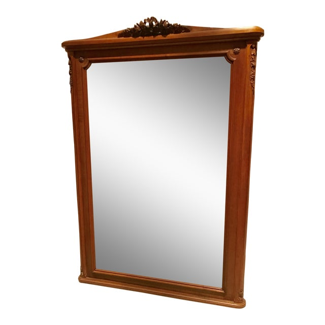 Antique French Walnut Louis XVI Mirror For Sale