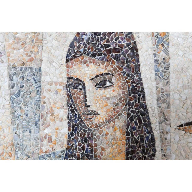 Mosaïc Artwork in Shell by Manuel Iturri For Sale - Image 6 of 9