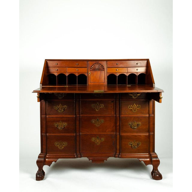 Early 19th Century Early 19th Century Mahogany Wood Drop-Front Writing Desk For Sale - Image 5 of 9