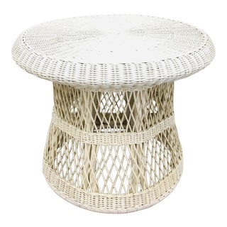 Vintage Wicker & Rattan Table For Sale