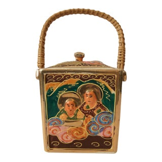 1940s Imari Biscuit Barrel For Sale