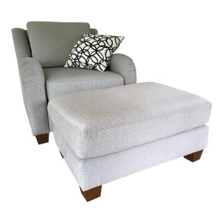 Transitional New ArmChair With Ottoman - 2 Pieces