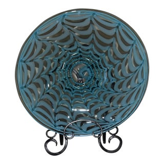 Waterford Evolution Aqua Art Glass Bowl For Sale