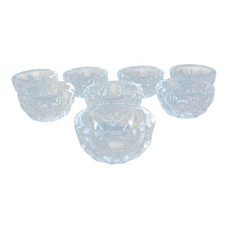 Vintage Glass Salt Cellars - Set of 8