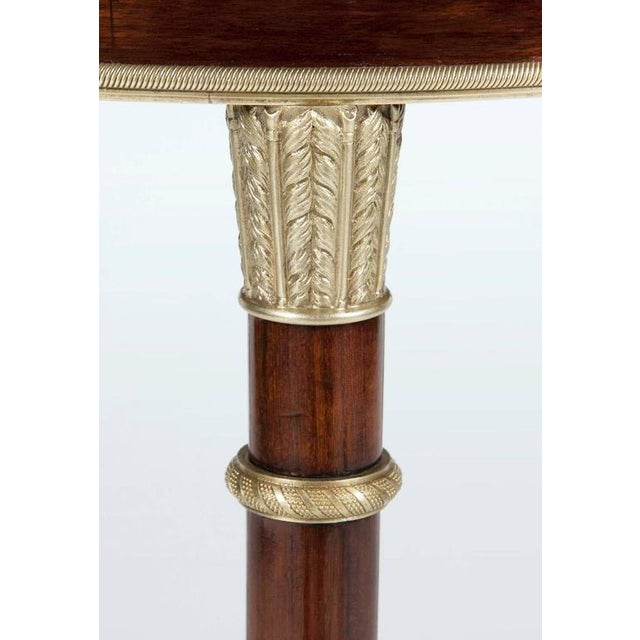 Russian Neoclassical Mahogany, Malachite and Ormolu-Mounted Gueridon For Sale - Image 5 of 9
