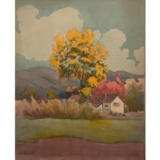 1920s California Arts and Crafts Painting by Benjamin Harnett For Sale
