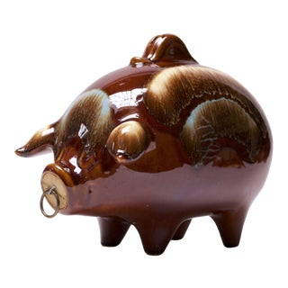 Large 1950s Hull Ceramic Piggy Bank For Sale