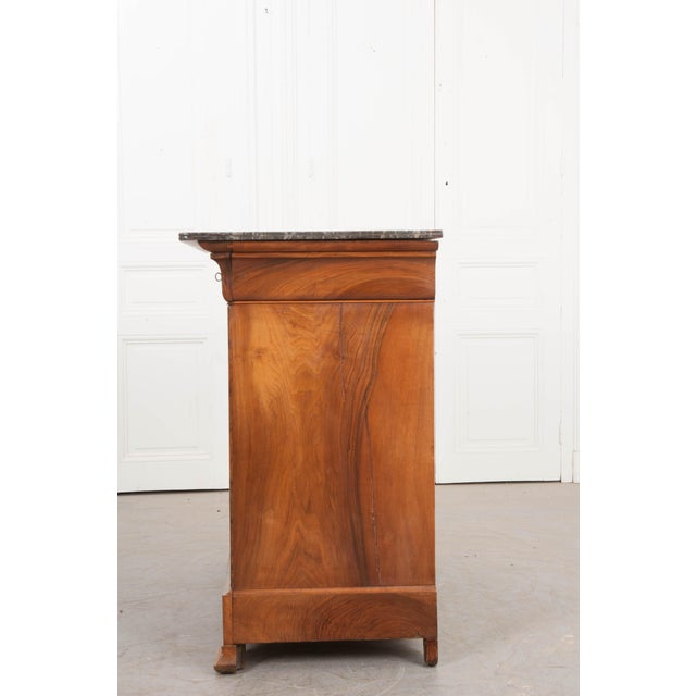 French 19th Century Louis Philippe Walnut Commode For Sale - Image 11 of 12