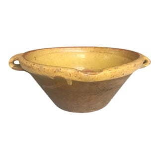 Late 1800s Antique French Confit Bowl For Sale