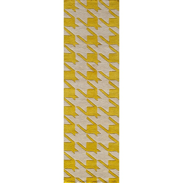 2010s Contemporary Momeni Delhi Hand Tufted Yellow Wool Area Rug 5' X 8' For Sale - Image 5 of 6