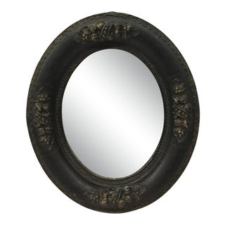 Antique Victorian Hand Carved Wood Framed Mirror For Sale