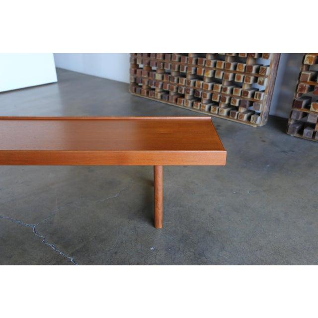 """Teak """"Krobo'' Bench by Torbjørn Afdal for Bruksbo For Sale - Image 9 of 11"""