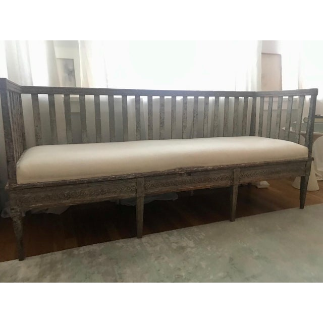 Early 19th Century Vintage Gustavian Bench For Sale - Image 9 of 13