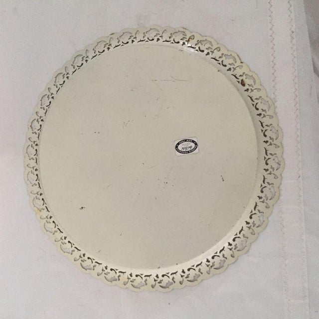 Vintage Hand Painted Floral Tole Tray For Sale In New York - Image 6 of 7
