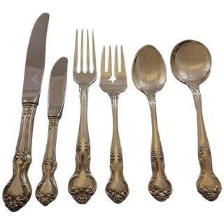 Amaryllis by Manchester Sterling Silver Flatware Service for 12 Set 74 Pieces For Sale