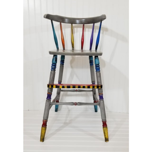 Vintage Hand Painted Highchair - Image 11 of 11