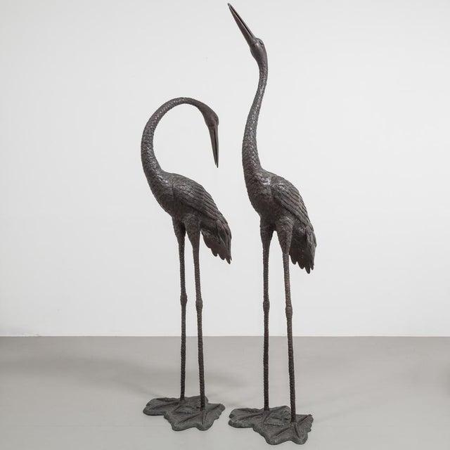 Gold Bronze Cranes Circa 1970s For Sale - Image 8 of 8