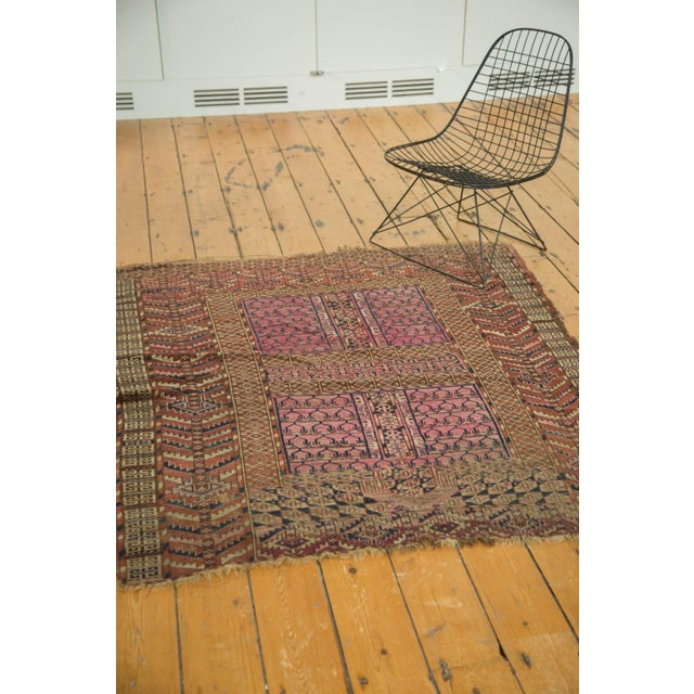 "Antique Turkmen Square Rug - 4'5"" x 4'11"" For Sale - Image 9 of 10"