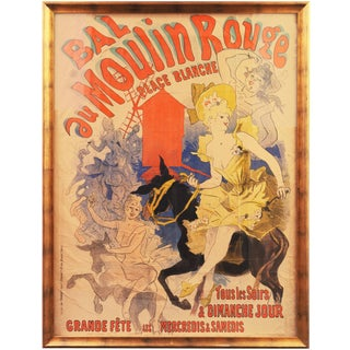 Bal Au Moulin Rouge by Jules Chéret, 1889 For Sale
