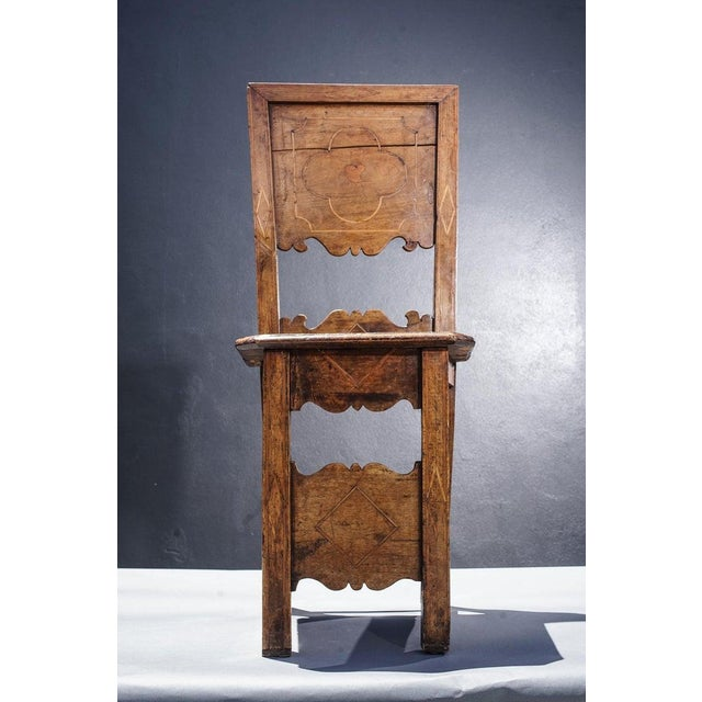 Group of Four 18th Century Inlaid Walnut Side Chairs For Sale - Image 4 of 6