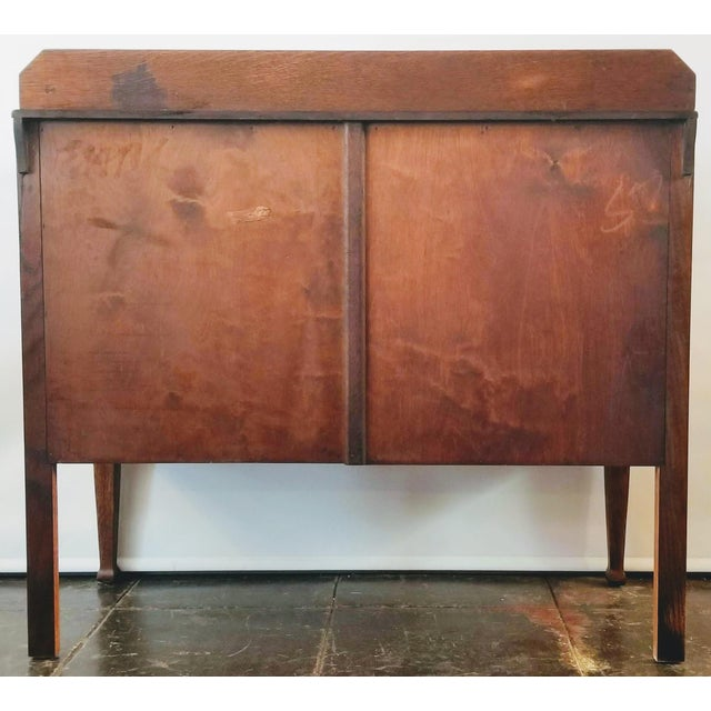Antique English Oak Arts & Crafts Sideboard / Buffet For Sale - Image 4 of 13