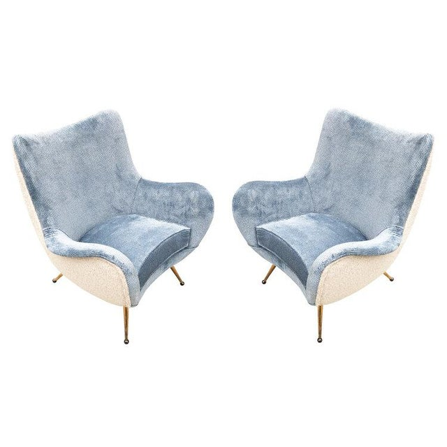 Pair of Armchairs Attributed to Marco Zanuso For Sale In New York - Image 6 of 6