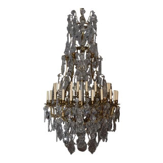 Antique chandelier, crystal For Sale
