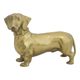 Brass Dachshund Doorstop For Sale