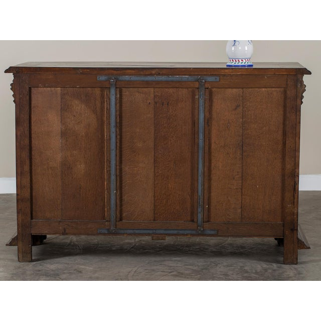Antique French Henri II Style Walnut Buffet circa 1875 For Sale - Image 11 of 11