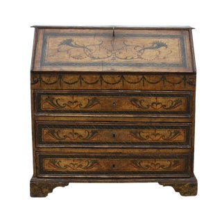 18th Century Italian Baroque Painted Desk For Sale