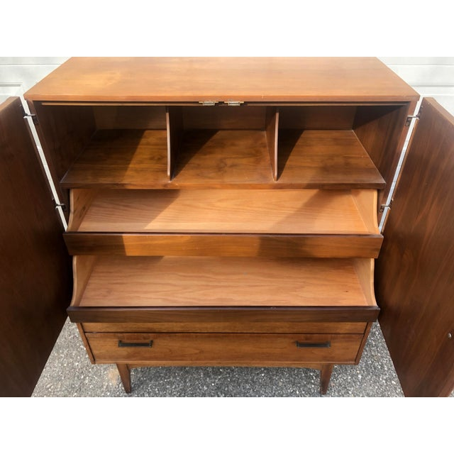 1960s Lane Gentlemens Chest Armoire For Sale - Image 5 of 11