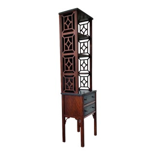 Chinese Chippendale Etagere Display Cabinet For Sale