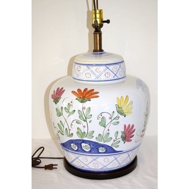 Frederick Cooper Hand-Painted Italian Lamp - Image 3 of 8
