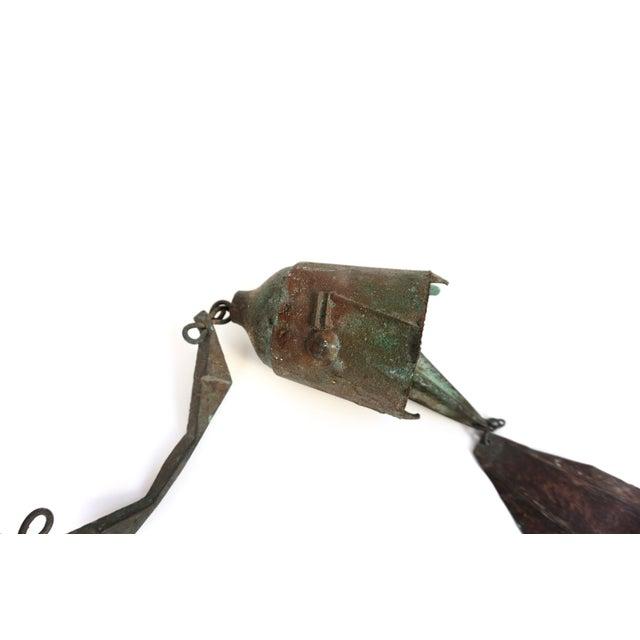 Paolo Soleri Early Paolo Soleri Original Bronze Wind Chime | Brutalist Bronze Soleri Bell | Consanti Geometric Garden Windbell For Sale - Image 4 of 12