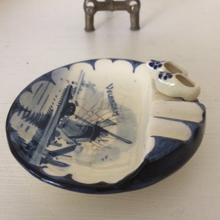 Vintage Delft Ashtray With Brass Stand Preview