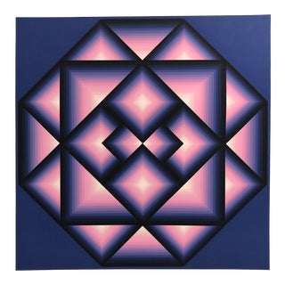 "Jürgen Peters 1974 Abstract Silkscreen ""Oktoqou I"" For Sale"