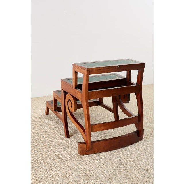 English Regency Style Mahogany Metamorphic Library Step Chair For Sale - Image 11 of 13