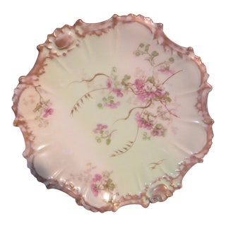 1891 Limoges Hand Painted Cabinet Plate For Sale