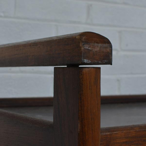 Walnut Two-Tiered Bar Cart - Image 4 of 11