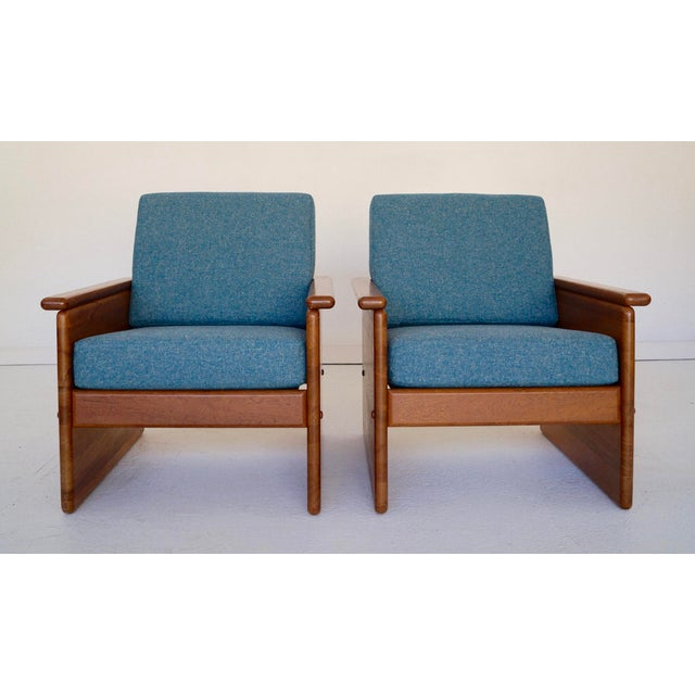 We have a pair of incredible vintage Danish Modern lounge chairs for $2,650. They have a solid teak frame, and have just...