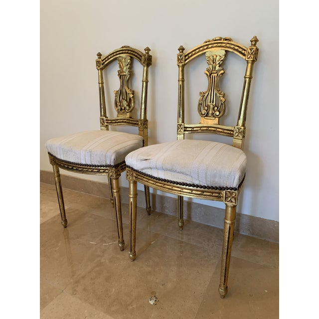 Antique French Neoclassical Louis XVI Lyre Chairs - a Pair For Sale - Image 13 of 13