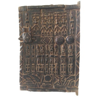 "Dogon Door With Figures Mali African 23.5 ""H by 16"" W For Sale"