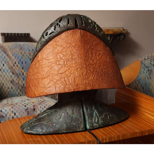Bronze Post-Modern Table Lamp by Coy Howard For Sale - Image 7 of 10