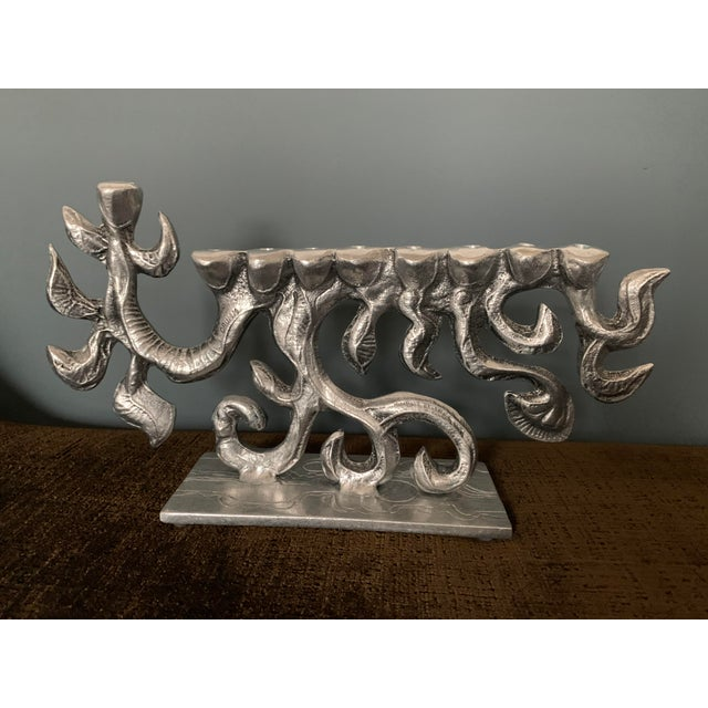 1970s Brutalist 1970s Menorah by Donald Drumm For Sale - Image 5 of 11