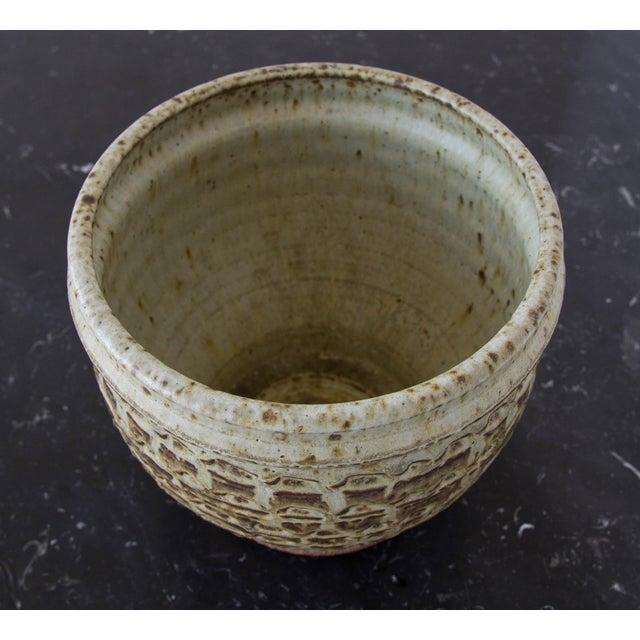 Textured Stoneware Garden Pot - Image 6 of 8