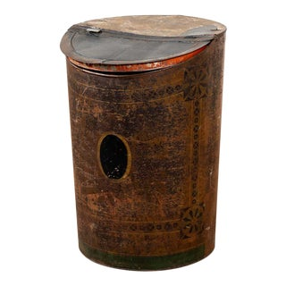 Antique Tole Storage Bin For Sale