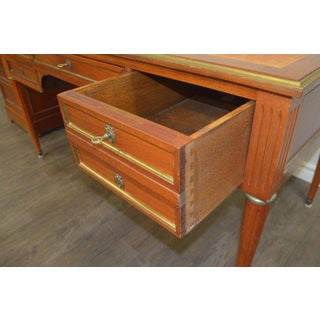 Louis XVI Style Mahogany Desk With Matching Cabinet - 2 Piece Set Preview